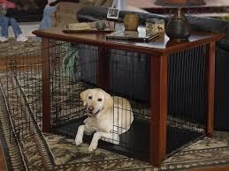 decorating winsome wooden dog crate end table 17 modern kennel house design best pet large startling