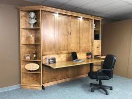 murphy bed office. heavy front king murphy bed with desk office
