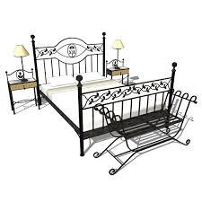 wrought iron bedroom furniture. Wrought Iron Bedroom Set 3D Model Furniture I