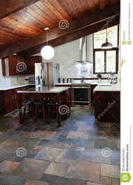 Slate Kitchen Floors Modern Kitchen Stock Photo Image 40079704