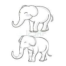 coloring pictures of elephants 2. Fine Coloring Elephant Drawing For Coloring Outline Printable 2 Style Royalty Free  Vectors Dr For Coloring Pictures Of Elephants C