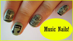 Festive Music Nail Art ♥ Simple Concert Nails ♥ BPS review - YouTube