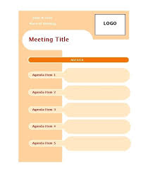 Staff Meeting Agenda Sample Office Business Template Doc Creative ...