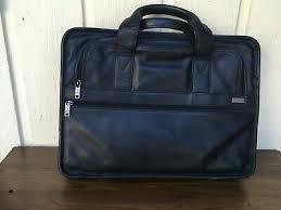 "Tumi Genuine Leather Briefcase. Up to 15"" <b>Laptop Bag</b>.Black ..."