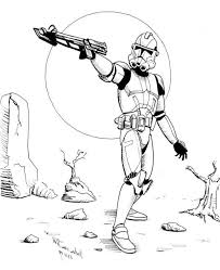 Star Wars Coloring Pages Stormtrooper Action Coloring Pages Movie