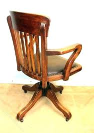 wooden swivel desk chair. Top Wooden Swivel Chair Desk Parts Oak Antique .