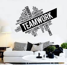 office wall stickers. Teamwork Vinyl Wall Decal Word Cloud Success Office Decor Worker Stickers Unique Gift (ig4152) E