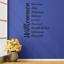 Wandtattoo Herzlich Willkommen 10 Sprachen Aufkleber Wall Wand
