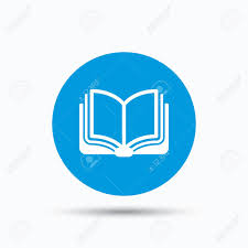 book icon study literature sign education textbook symbol  study literature sign education textbook symbol blue circle button flat