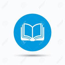 book icon study literature sign education textbook symbol  study literature sign education textbook symbol blue circle button flat