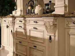 image of painted distressed kitchen cabinets