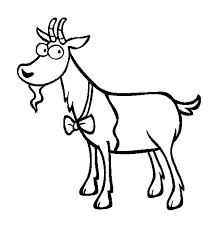 Small Picture Goat Wearing Bow Tie Coloring Pages Color Luna