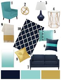 Navy Blue Living Room Chair Color Inspiration Navy Aqua And Gold Bedroom Color Palettes