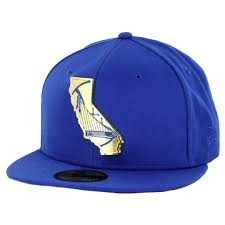 Golden Gold Era Blue Fitted 59fifty Stated Warriors New State Hat Royal