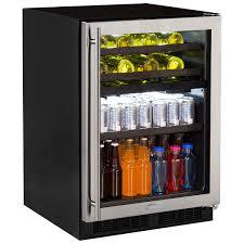 Undercounter Beverage Refrigerator Glass Door Beverage Centers Beverage Coolers Marvel Refrigeration