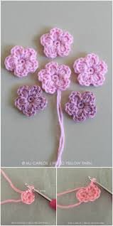Small Crochet Flower Pattern Interesting Design