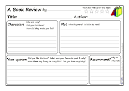 Book Review Template Great book review template Pinteres 1