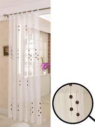 Schlaufenschal Voile Stickerei Gardine transparent elegantes ...