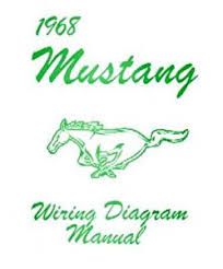 amazon com 1968 ford mustang wiring diagrams schematics automotive 1968 mustang turn signal wiring diagram at 1968 Ford Mustang Wiring Diagram
