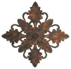 circular wood wall decor awesome attractive ideas round art fl hand carved medallions target mango
