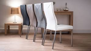 white leather dining room chairs. Dining Room Fabric For Chairs Leather Look White
