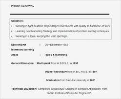 Marketing Student Resume Junior Sample Of Internship Objective New