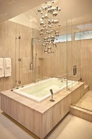 unique bathroom lighting fixture. Cool Chandelier Brings Metallic Magic To The Minimal Bathroom [Design: Wood Construction] Unique Lighting Fixture G