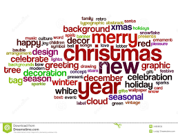 Christmas And New Year Word Cloud Stock Illustration Illustration