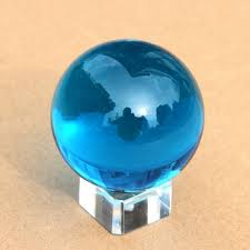 Glass Balls For Decoration 100mm Blue Colored Decorative Glass Balls Crystal Smooth Ball 12
