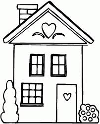 Small Picture Cartoon House Outline ClipArt Best Inspiration Quilt Design