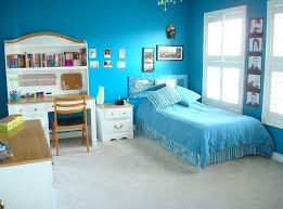 bedroom furniture for teen girls.  Girls Relaxing Sea Blue Teen Room Decor With White Bedroom Furniture For Girls
