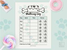 Printable Walking Charts 9 Best Printable Dog Walking Log Printable Family Dog Waking