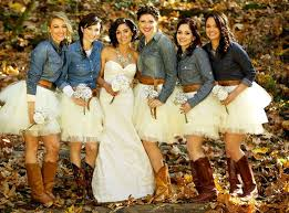 Bridesmaid Cowboy Boots For Rustic Wedding  WomenitemsComCountry Western Style Bridesmaid Dresses