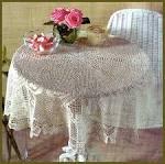 Вязание скатерти крючком филейная сетка 164