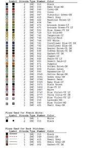 9 Best Conversions Images Dmc Floss Chart Cross Stitch Floss
