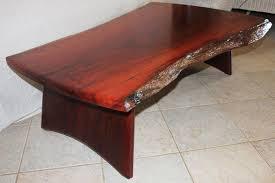 jarrah slab coffee table