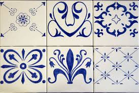Blue And White Decorative Tiles Erin's Blue White Decorative Accent TilesBacksplash Mural 14