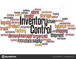 Word Inventory Inventory Control Word Cloud Concept 5 Stock Photo
