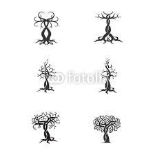 Plakát Sada Vektoru Loga Stromu Tetování
