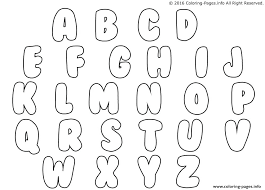Letters Coloring Page Bubble Letters Coloring Pages Printable