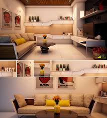 casual modern living rooms featuring minimalist furniture red yellow white living room1