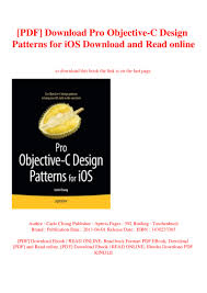 Ios Design Patterns Book Pdf Download Pro Objective C Design Patterns For Ios