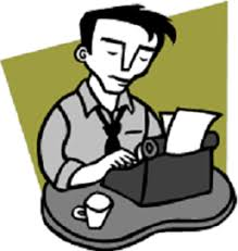 Author Writing Clipart