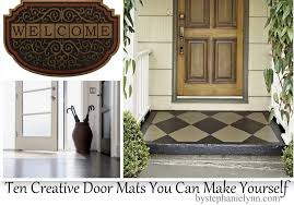 outdoor front door matsCreative Door Mats You Can Make Yourself  Tuesday ten DIY