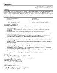 Resume Sample Special Education Teacher Fresh Special Education