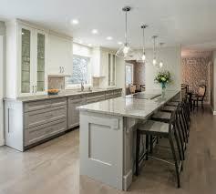 Transitional Kitchen Lighting Gray Undermount Kitchen With Crystal Pendant Lighting Kitchen