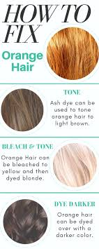 Color Correction How To Fix Orange Hair Bellatory