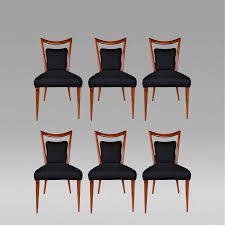 rare set of six art deco dining chairs by melchiorre bega c 1955 courtesy of archive art deco mid century dining
