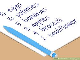 Make A List Com How To Make A Shopping List With Pictures Wikihow