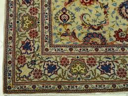traditional persian kashan area rug light green medallion shah abbassi rugs arabic oval inexpensive